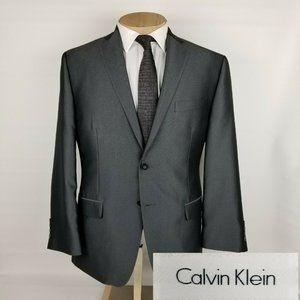 Calvin Klein Mens Sport Coat 42S Gray Blazer
